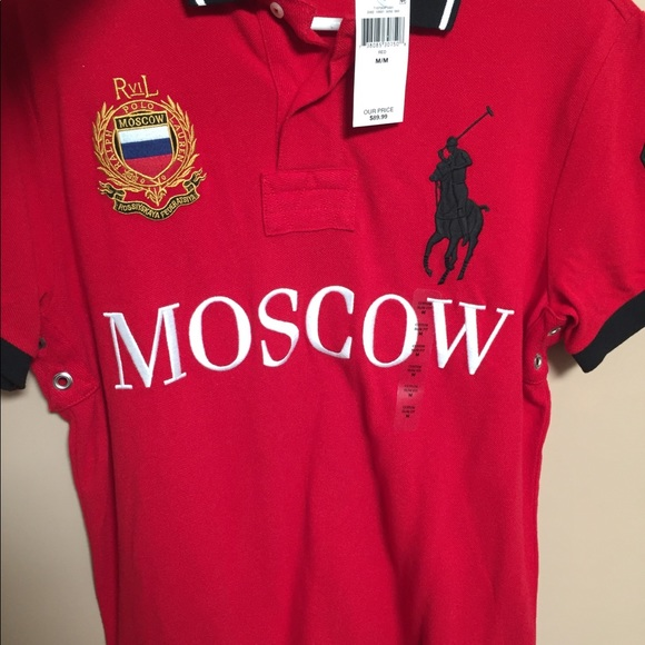 Red Shirt Polo 85143 B6644 Ralph Get Moscow Lauren vyNnm80Ow